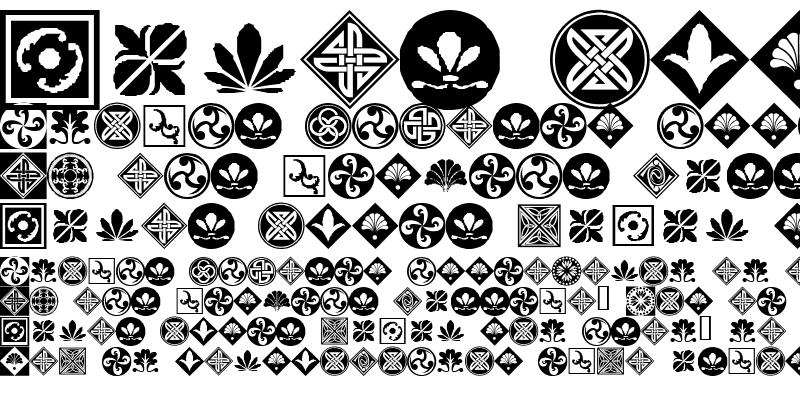 Sample of Orient Pattern Dings Set 1 Regular