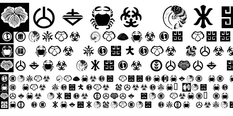 Sample of Orient Pattern Dings Set 2 Regular