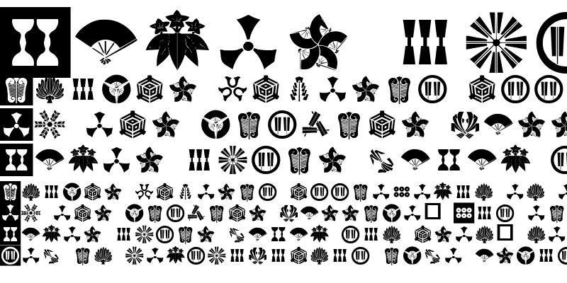 Sample of Orient Pattern Dings Set 3 Regular