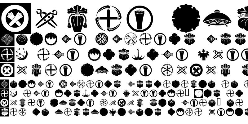 Sample of Orient Pattern Dings Set 4 Regular