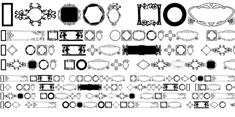 Sample of Ornamental Frames I