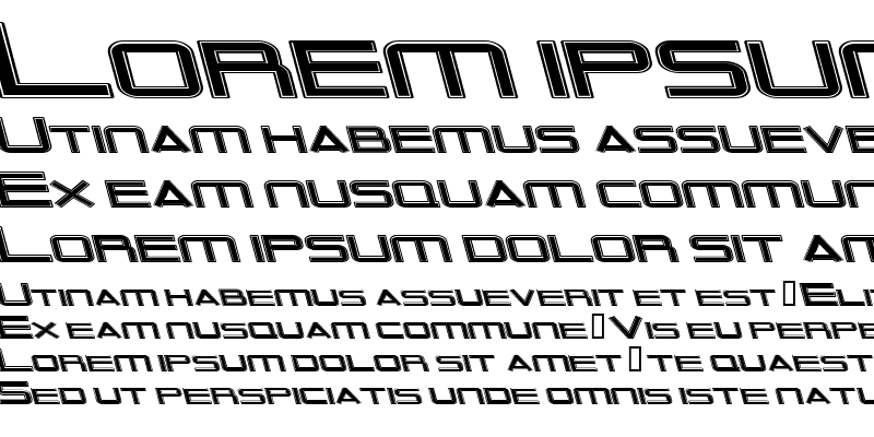 Sample of Outer Limits Extended Italic