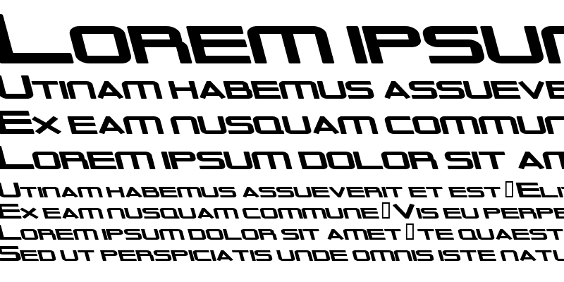 Sample of Outer Limits Solid Extended Italic