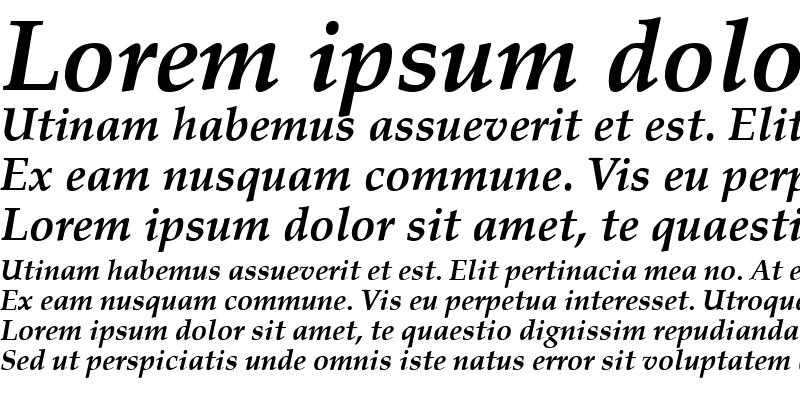 Sample of Palatine Bold-Italic