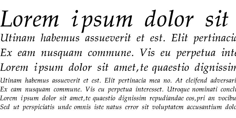 Sample of Palatino-Thin-Italic