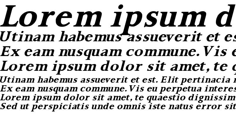 Sample of Palermo SF Bold Italic