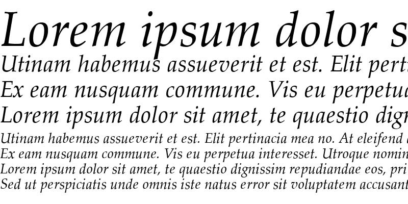 Sample of Palladio Italic