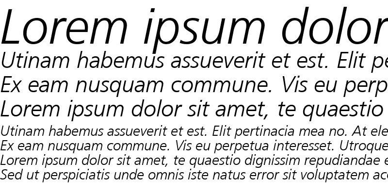 Sample of Palma Light SSi Light Italic