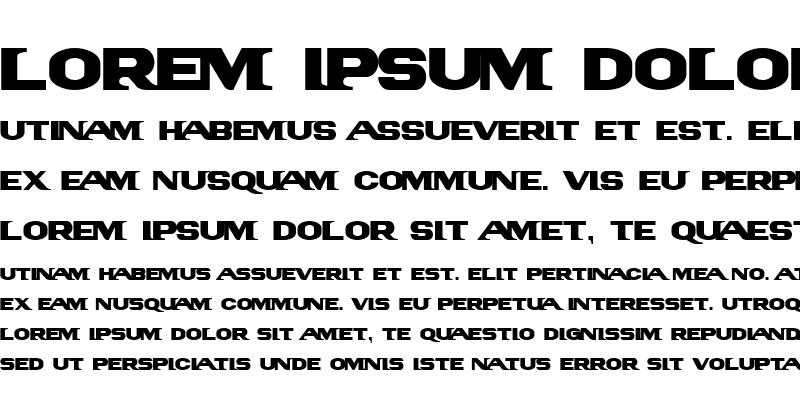 Sample of PanAm LogoText Regular