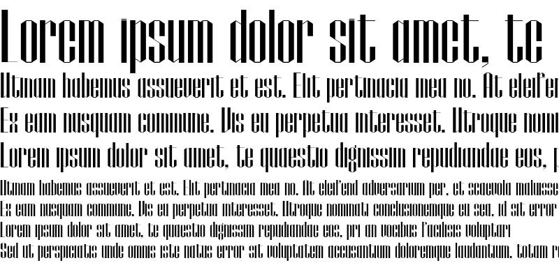 Sample of Papercut Regular