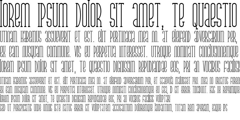 Sample of Parkland Serif