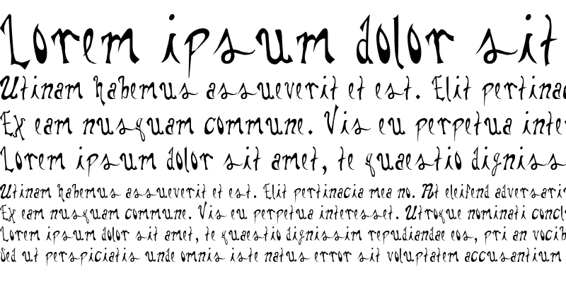 Sample of Pauls Whimsy Font