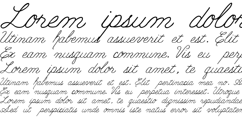 Sample of PC Cursive