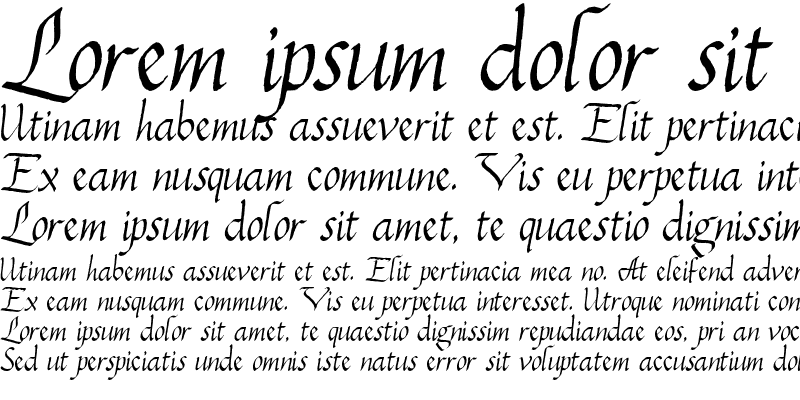 Sample of PC Italic