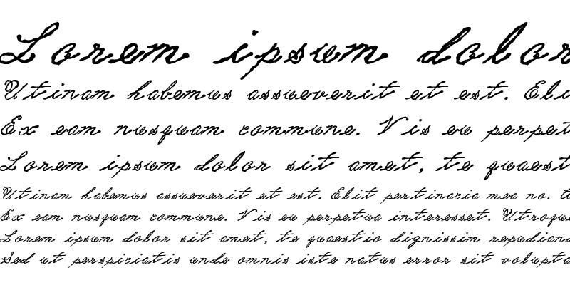 Sample of PC Old World Script