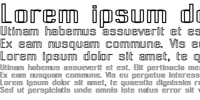 Sample of Pecot Outline Bold Regular
