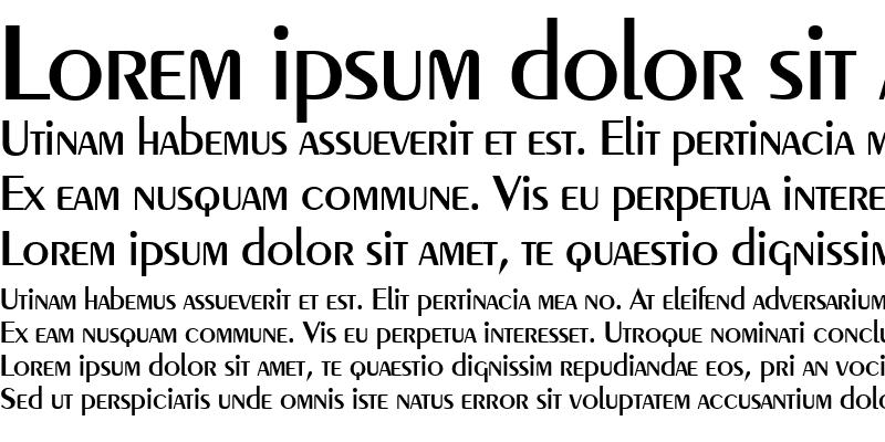 Sample of Peignot Medium
