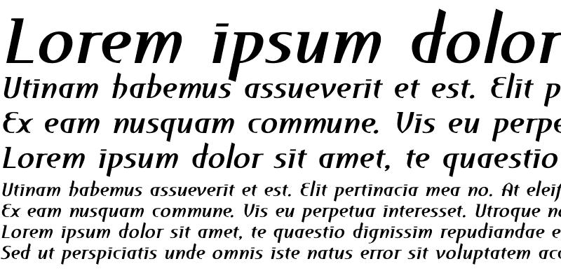 Sample of Perceval ItalicBold
