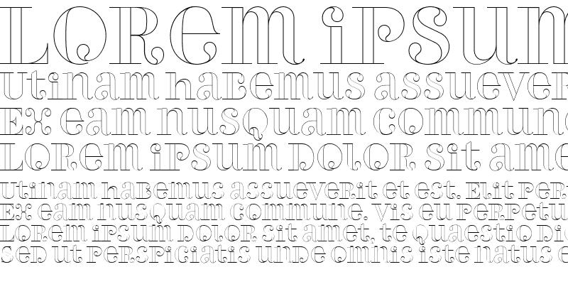 Sample of PerlaAlternateOutline Regular