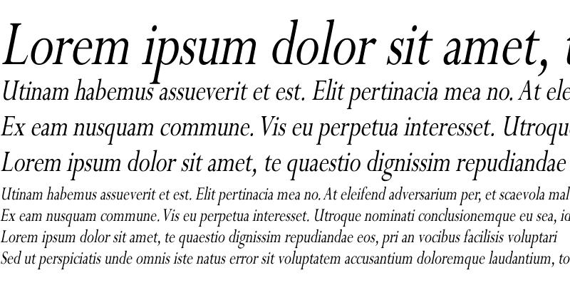 Sample of Perpetua Cn Italic Italic