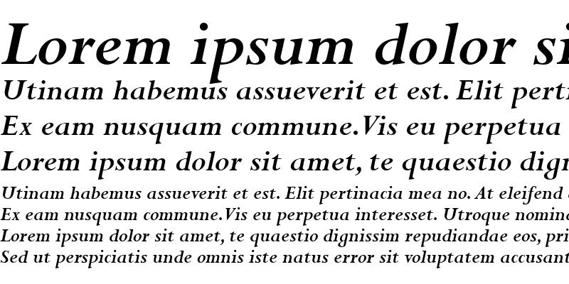 Sample of Perpetua MT Bold Italic