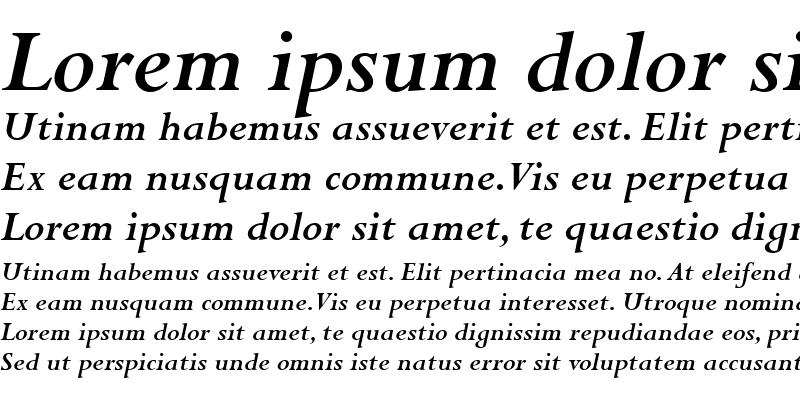 Sample of Perpetua SC Bold Italic