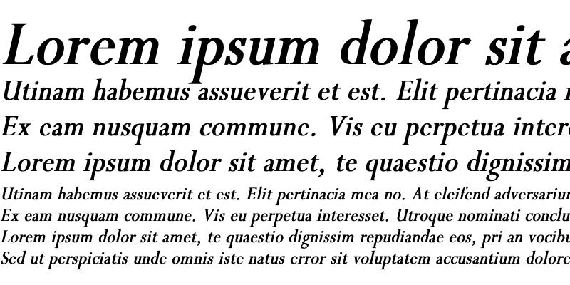 Sample of Perpetua Th Bold Italic