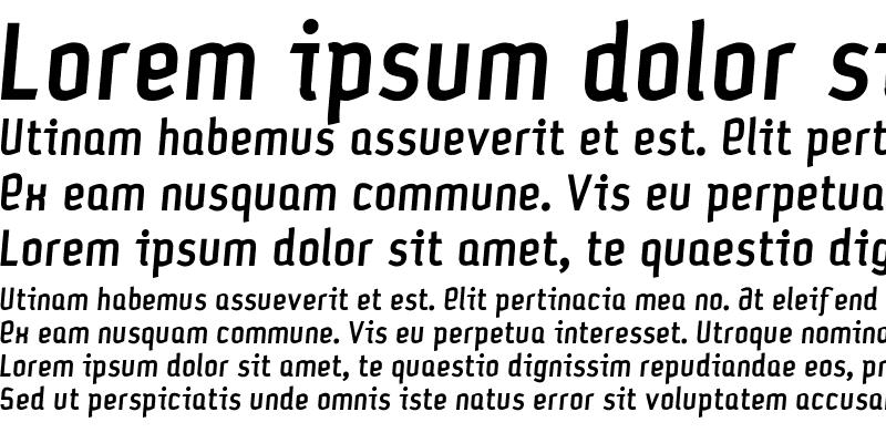 Sample of Petrol-Medium Italic