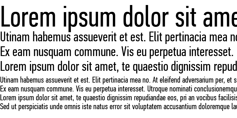 Sample of PF Din Text Comp Pro