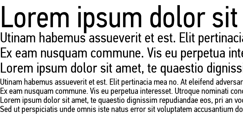 Sample of PF Din Text Cond Pro