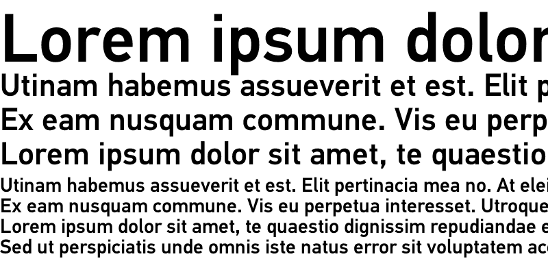 Sample of PF Din Text Universal