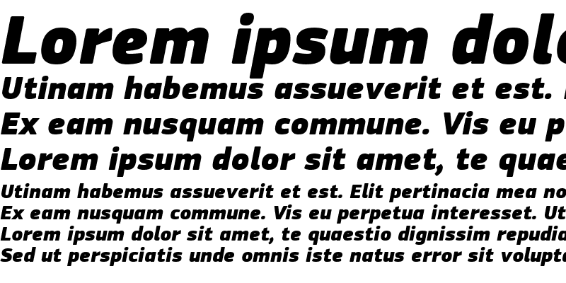 Sample of PF Square Sans Pro Extra Black Italic