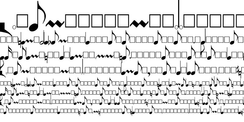 Sample of PG Music Font