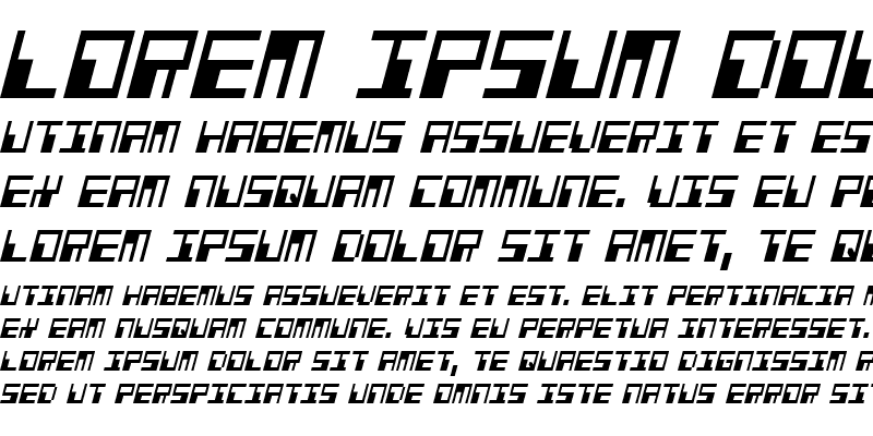 Sample of Phaser Bank Condensed Italic