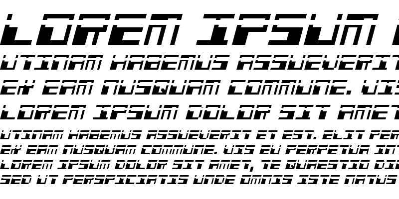 Sample of Phaser Bank Laser Italic Italic