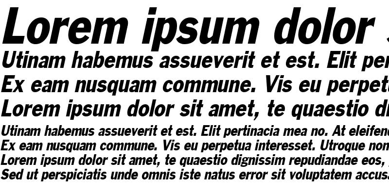 Sample of Philadelphia-Condensed Italic