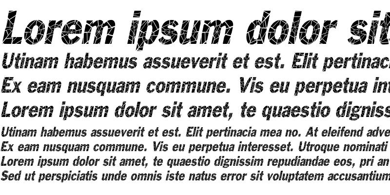 Sample of Philadelphia-Cracked-Condensed Italic