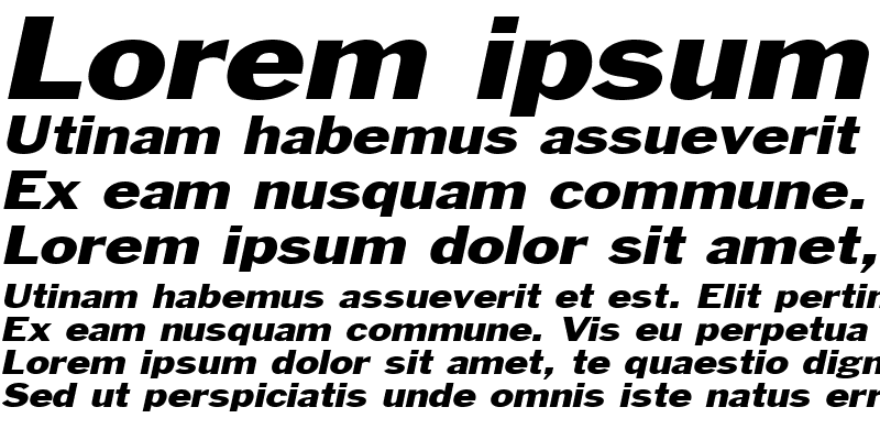 Sample of Philadelphia-Extended Italic
