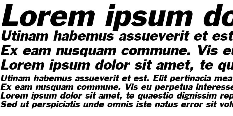 Sample of Philadelphia Italic