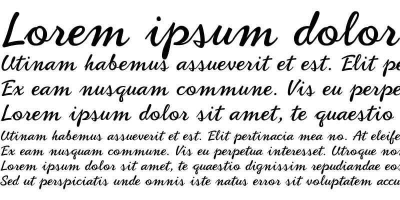 Sample of PhoenixScript Upright Regular