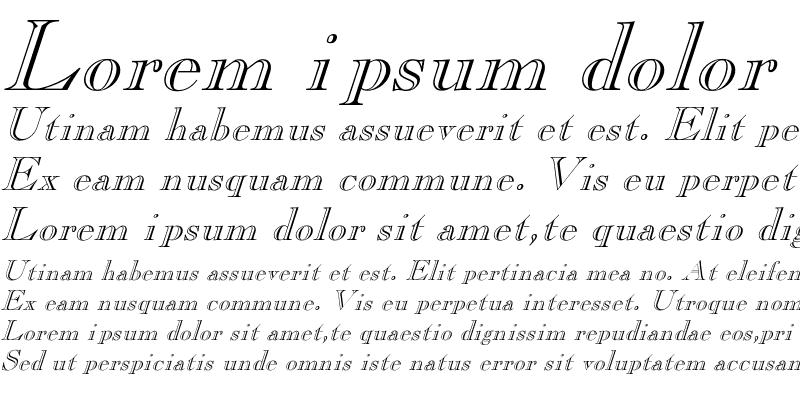 Sample of Pinchi-Italic