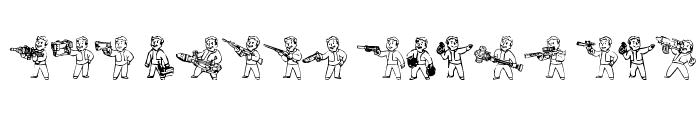 Preview of Pip Boy Weapons Dingbats Regular