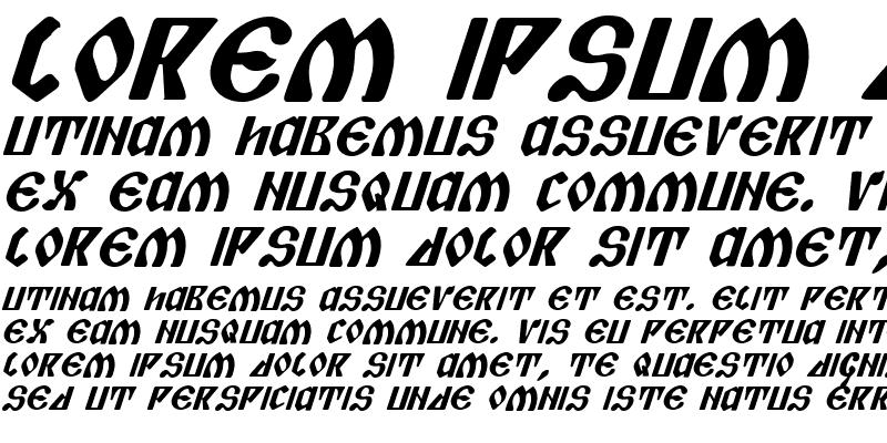 Sample of Piper Pie Bold Italic