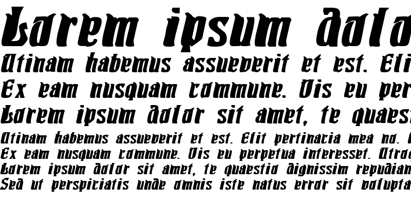 Sample of Pittoresk Bold Oblique
