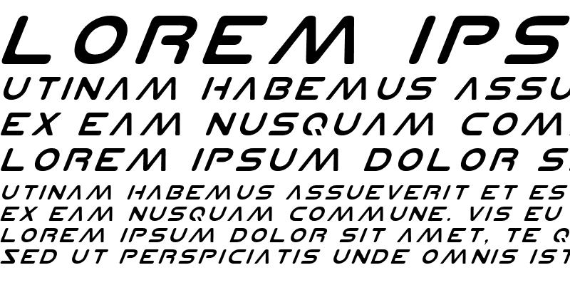 Sample of Planet N Italic
