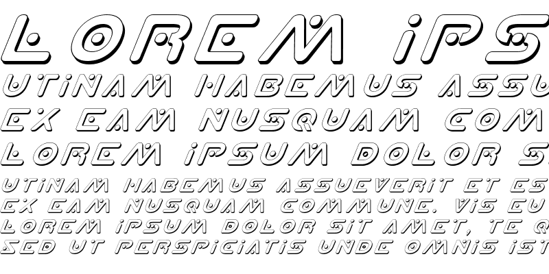 Sample of Planet X Shadow Italic Shadow Italic