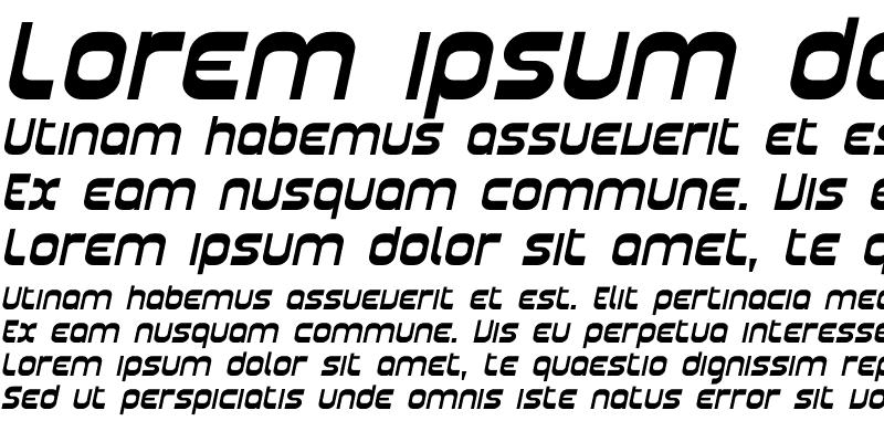 Sample of Plasmatica Ext Italic