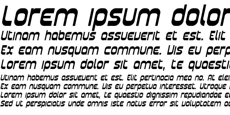 Sample of Plasmatica Italic