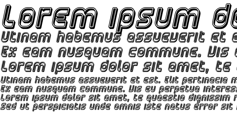 Sample of Plasmatica Open Italic