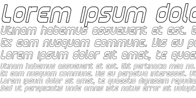 Sample of Plasmatica Outline Italic